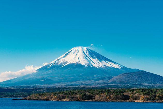 Monte Fuji - Vista dalla pineta costiera di Miho-no-Matsubara