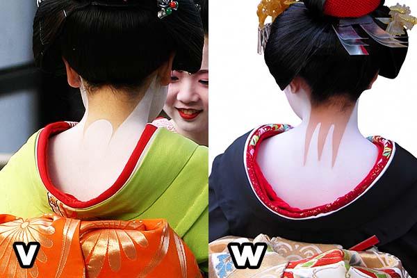 Geisha trucco nuca