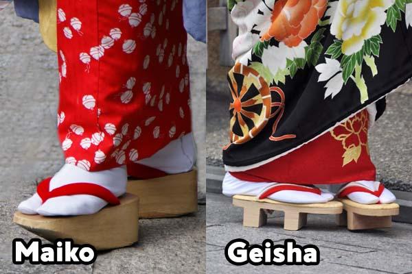 Maiko e Geisha - Sandali