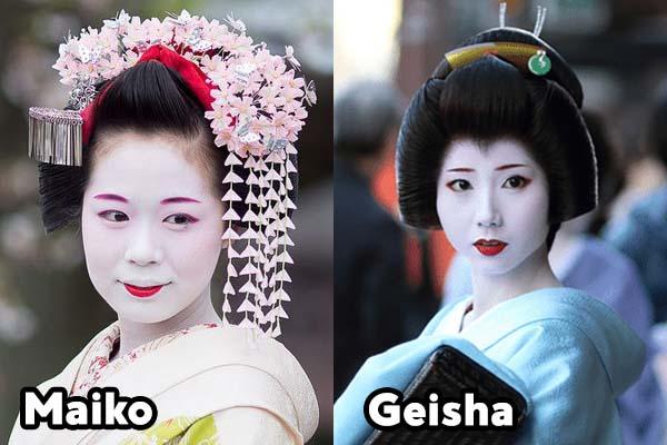 Maiko e Geisha - Capelli