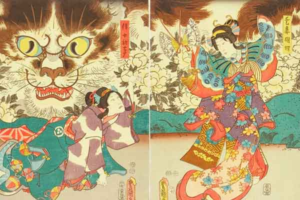 Yokai Bakeneko mostro giapponese