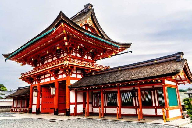 Una struttura del santuario Fushimi Inari