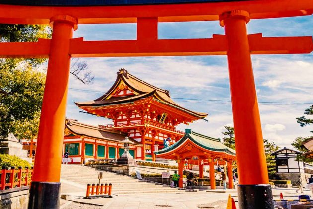 Torii di entrata al Fushimi Inari