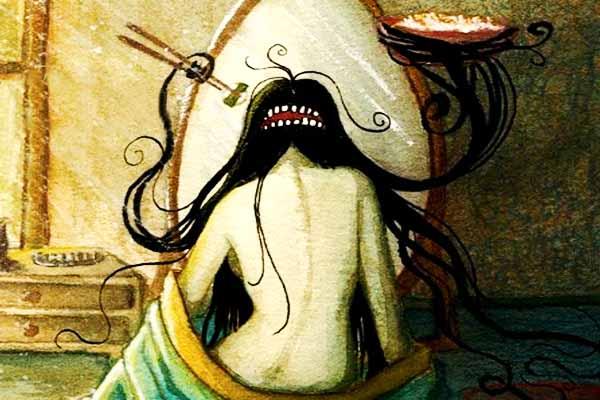 Futakuchi-onna mostro giapponese