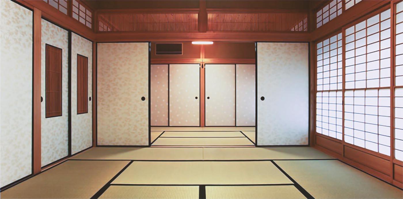 Casa giapponese tradizionale con tatami