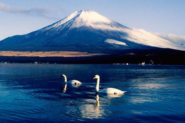 Monte Fuji - Vista dal lago Yamanaka