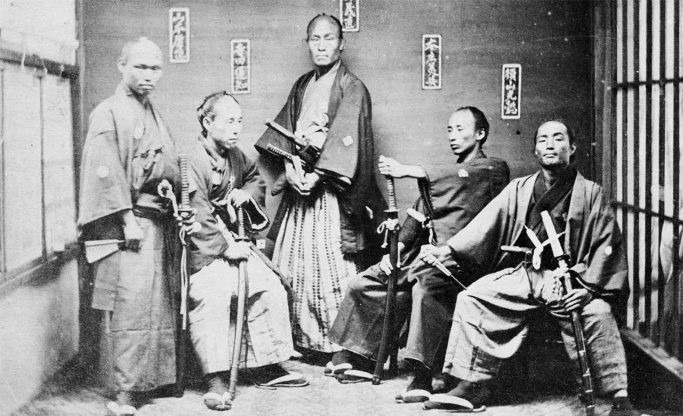 Samurai con la loro katana