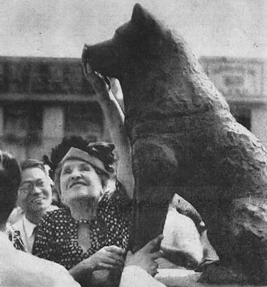 Seconda statua di Hachiko del 1948