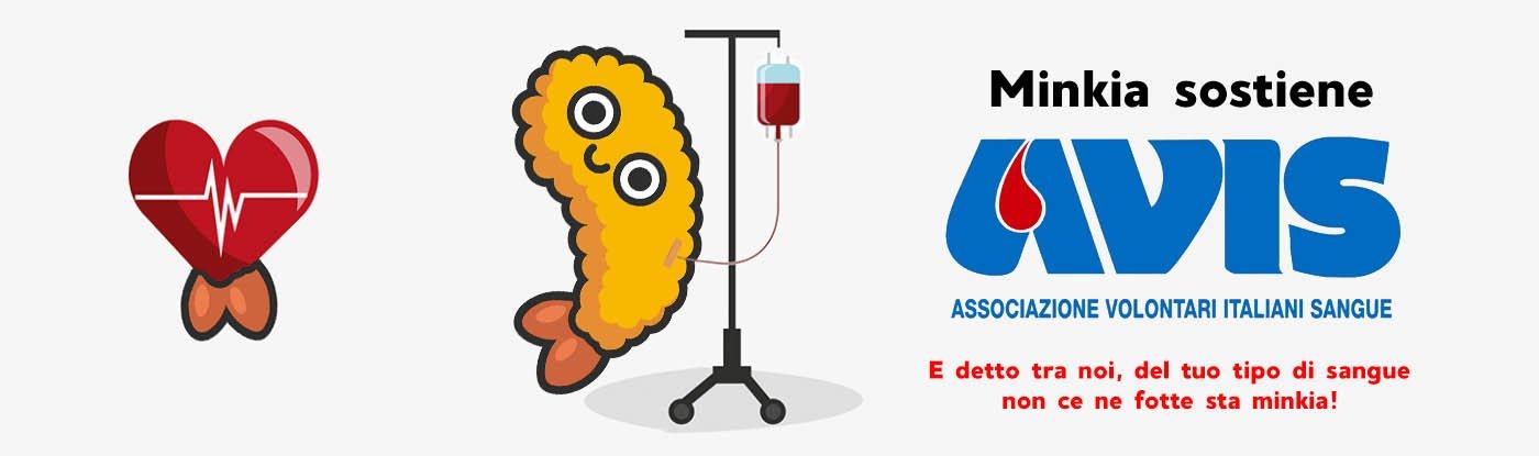 Minkia sostiene AVIS e i gruppi sanguigni in Giappone