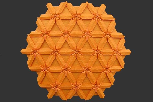 Origami tecnica tesselation